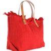 Shopper-Sunshine-rood rode canvas strandtassen -shoppers-strandtas -katoen-grote-tassen-kopen velle kleuren leren hengsel