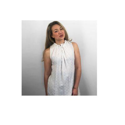 Halterjurk Rika wit witte trendy zomer jurken dames kleding musthave fashion jurk kopen dresses bestellen