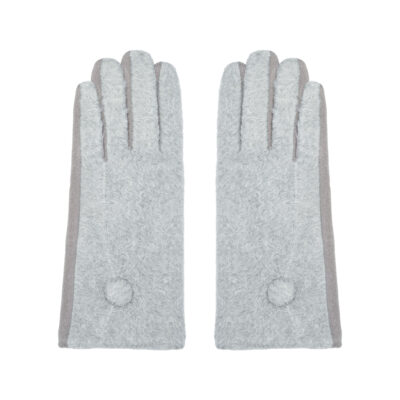 Handschoenen Dot grijs grijze warme wollen handschoen wanten kopen bestellen winter achter