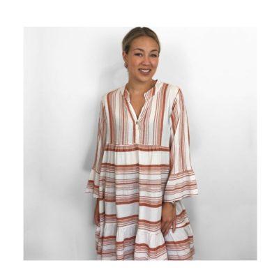 Jurk-Greece rood -mint-witte-dames-jurken-boho-gestreepte-jurk-dames-kleding-zomer-trendy-fashion-kopen-bestellen- zomer trends