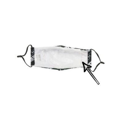 Mondkapje Chains zwarte zwart katoenen mondkapjes met ketting print bescherming mondmasker trendy wasbaar herbruikbaar achter