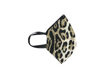Mondkapje Leopard kapjes met zwarte bladeren print trendy panter tijger print mondkapjes bescherming mondmaskers leuke bescherming katoenen wasbaar side