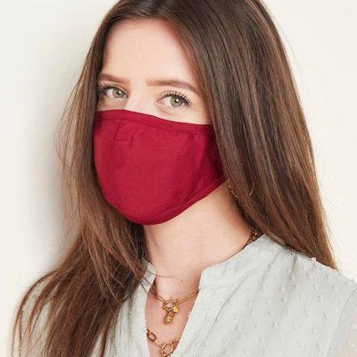 Mondkapje Simple Fashion Bordeaux rood rode mondkapjes mondmaskers bescherming corona verplicht kopen bestellen trends