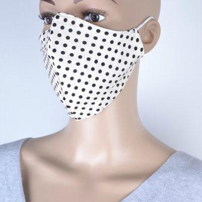 Mondkapje Stippen creme mondkapjes zwarte stippen kapjes print trendy kleurige mondkapjes bescherming mondmaskers leuke bescherming katoenen wasbaar