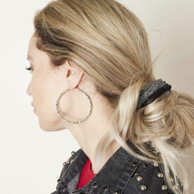 Oorbellen Creole Hoops Gemma zilver zilveren grote dames oorbellen creolen sieraden rvs gedraaide oorbel kopen details1
