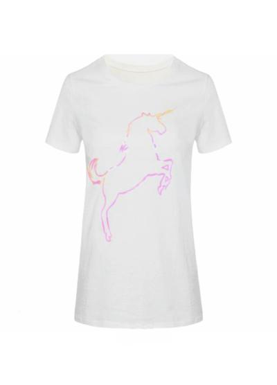 T shirt-Pink-Unicorn-wit-witte-dames-shirts-met-unicorn print dames kleding kopen-fashion-festival-truitje-tshirts-met-print-online