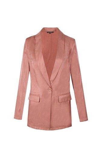 Blazer Pretty Pastel roze pink lange blazers zijde dames kleding trendy lichte blazers jasjes kopen bestellen