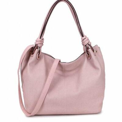 Handtas-Spiral-roze pink-kunstleder-tassen-dames-tas-itbags-look-a-like-bags-musthave-dames-tassen-goedkope-guiliano-online-