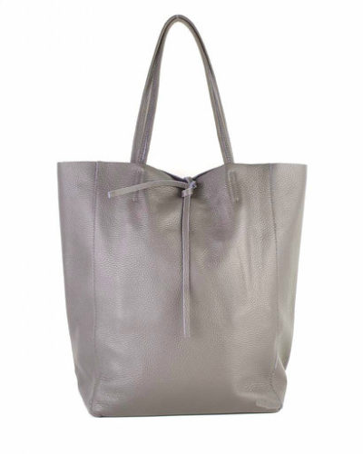 Leren-Shopper-Simple-mud donker taupe ruime-dames-shopper-zacht-leer-online-luxe-dames-tassen-italie-bestellen