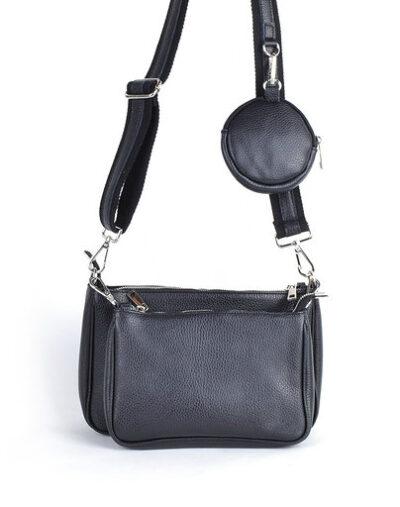 Leren Tas-Trio-Pouch-zwart-zwarte-drie-losse-tasjes-kunstleder-look-a-like-3-delige- tassen-kopen-bestellen-trendy-tassen giulliano
