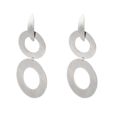Oorbellen Creole Waterfall zilver zilveren statement oorbel dames sieraden yehwang trendy kopen