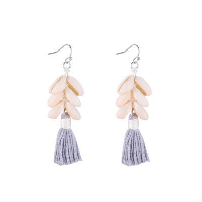 Oorbellen Happy Shells grijs grijzel koari schelpen oorbellen earrings sieraden kopen bestellen