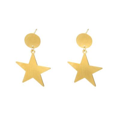 Oorbellen Shining Star goud gouden oorbel ster bedel dames sieraden yehwang trendy kopen