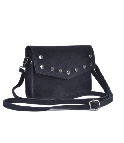 Suede Belt Bag Studs zwart zwarte riemtassen fannypacks heuptassen van suede leer leren met studs schoudertasje achter