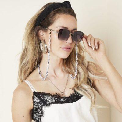 Zonnebril Icon bruin bruine vierkante damesbrillen gevlochten pootjes trendy musthave fashion sunglasses