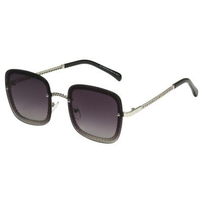 Zonnebril Icon bruin bruine vierkante damesbrillen gevlochten pootjes trendy musthave fashion sunglasses kopen