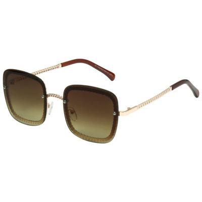 Zonnebril Icon goud gouden vierkante damesbrillen gevlochten pootjes trendy musthave fashion sunglasses