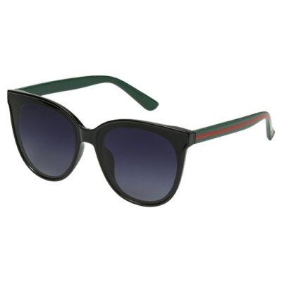 Zonnebril Iconic zwart zwarte trendy brillen look a like zonnebrillen met groene & rode strepen kopen yehwang