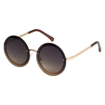 Zonnebril Round Vibes bruin bruine trendy zonnebrillen met ronde glazen look a like brillen kopen