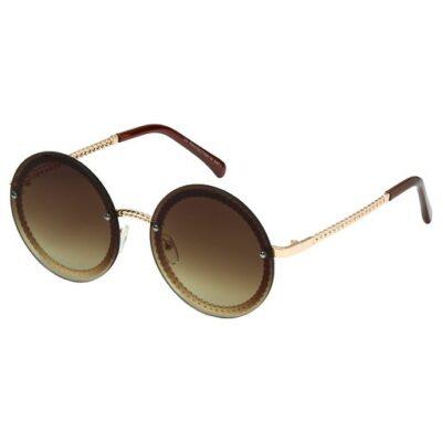 Zonnebril Round Vibes licht bruin bruine trendy zonnebrillen met ronde glazen look a like brillen kopen