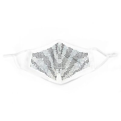 Mondkapje Bling wit witte mondkapjes strass steentjes diamantjes kopen