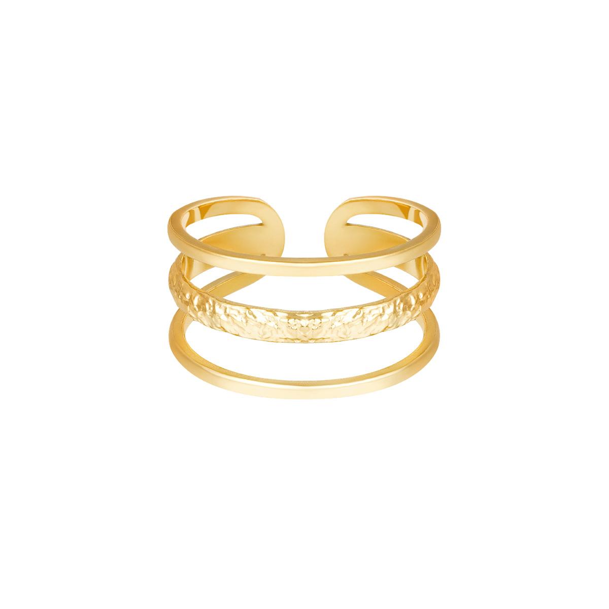 Brede Ring Layers goud gouden trendy lagen ringen dames open ringen fashion yehwang sieraden bestellen