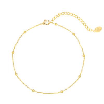 Enkelbandje Beads goud gouden kopen