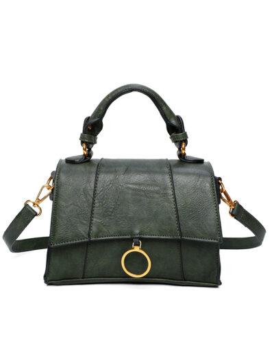 Handtas Trendy Ring groen groene tas kopen trendy tassen goud beslag bestellen