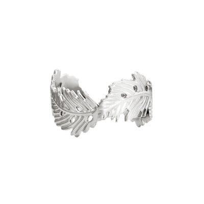 Ring Wavy Leaf zilver zilveren open ringen