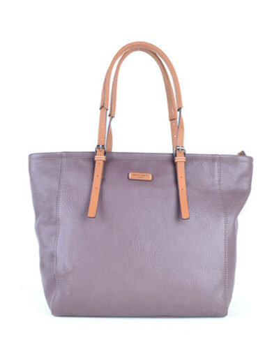 Shopper David Jones taupe trendy ruime shopper kopen