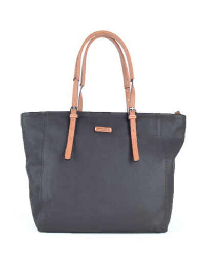 Shopper David Jones zwart zwarte trendy ruime shopper kopen