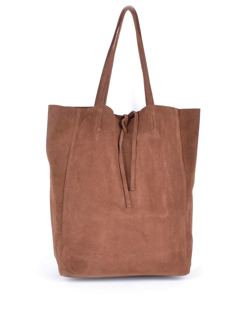 Suede-Shopper-Simple- bruin ruime-leren-suede-shoppers-koordje-trends-kopen-giuliano-tassen-kopen