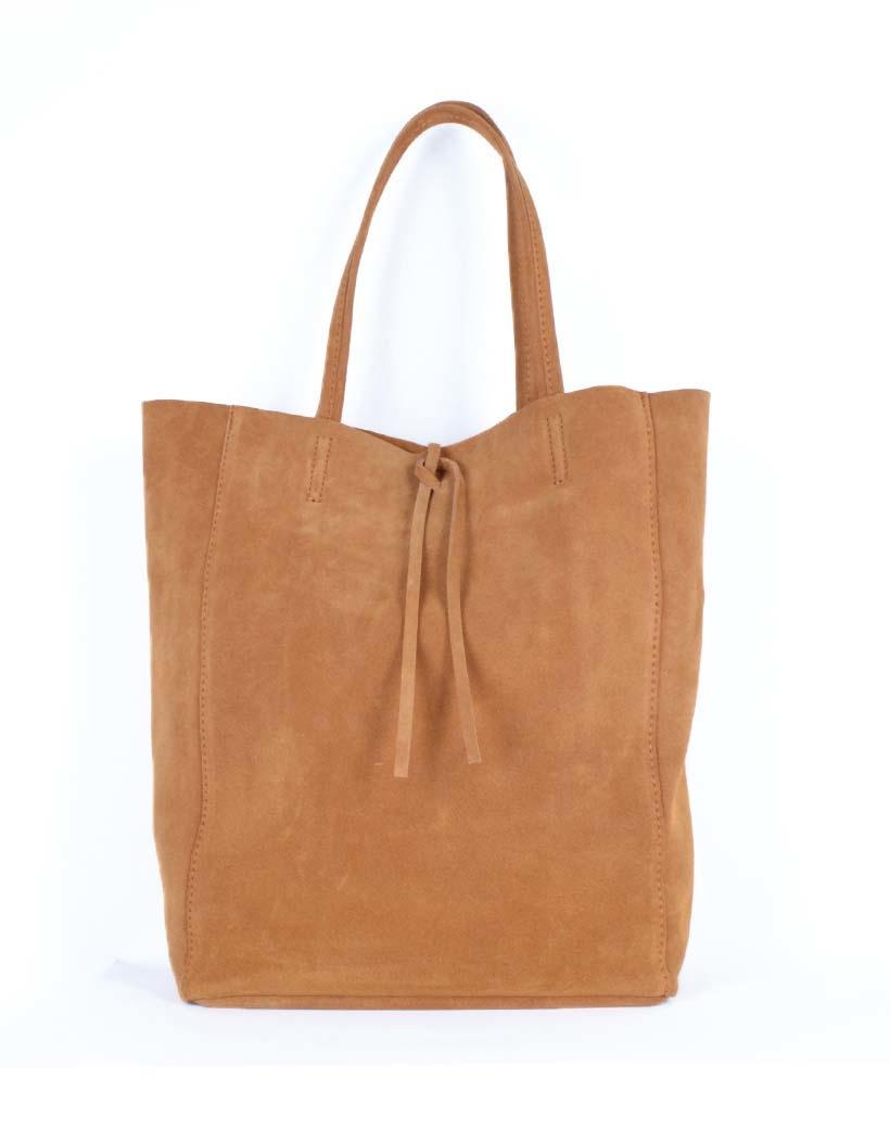 Suede-Shopper-Simple camel ruime-leren-suede-shoppers-koordje-trends-kopen-giuliano-tassen-kopen