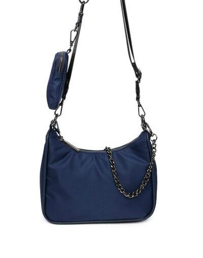 Tas Duo Chain blauw blauwee tas ketting trendy tassen kopen bestellen