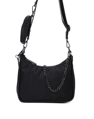 Tas Duo Chain zwart zwarte tas ketting trendy tassen kopen bestellen