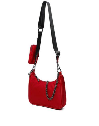 Tas Duo Chain rood rode tas ketting trendy tassen kopen bestellen