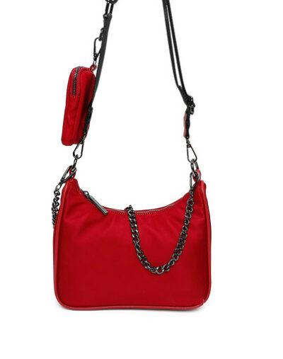 Tas Duo Chain rood rode tas ketting trendy schoudertassen kopen bestellen
