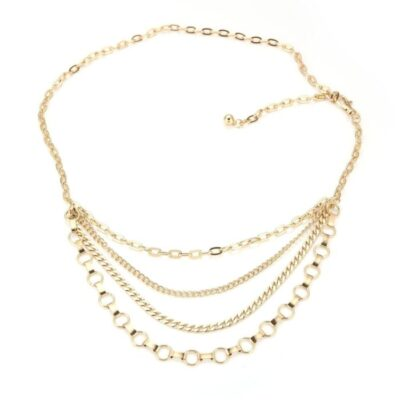 Kettingriem Big Chains goud gouden ketting riemen 4 lagen trendy fashion musthaves kopen bestellen