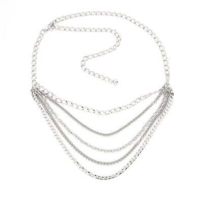 Kettingriem Many Chains zilver zilveren ketting riemen 4 lagen trendy fashion musthaves kopen bestellen