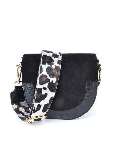 Leren-Schouderband-Happy Panter leopard-print-losse-lederen leer schouderbanden-tassen-hengsel kopen-bestellen-