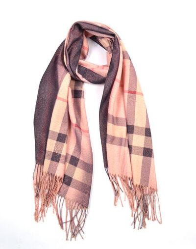 Sjaal Berry Roze bruine dames sjaals look a like trendy winter sjaals omslagdoeken kopen bestellen