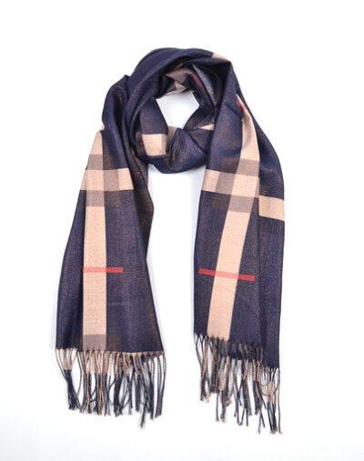 Sjaal Berry blauw bruine dames sjaals look a like trendy winter sjaals omslagdoeken kopen bestellen