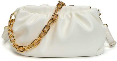 Tassen Hengsel Big Gold Chain goud gouden brede losse schakel ketting hengsel look a like kopen bestellen pouch