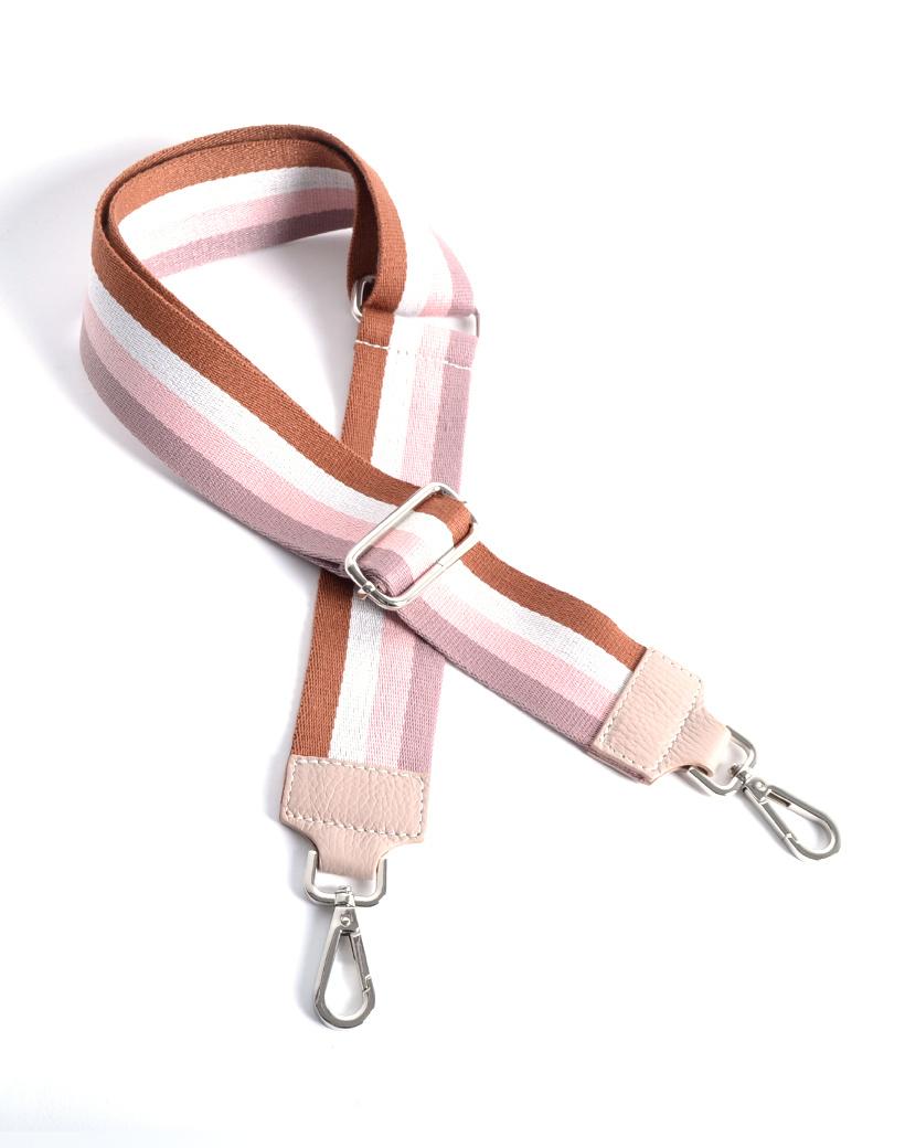 Tassenhengsel-Simple Lines roze bruin witte bagstraps losse tassen hengsels kopen fashion giuliano kopen bestellen