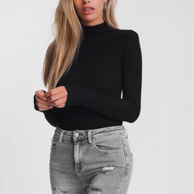 Zwarte Trui Favorite zwart zwarte strakke coltruien trendy dames truitjes tops lange mouwen kopen bestellen