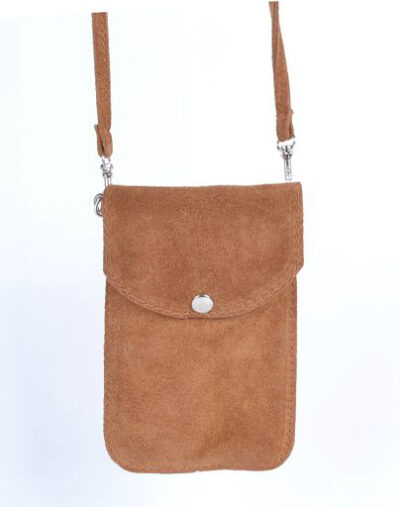 Suede Telefoontasje Simple camel kleine schoudertasjes voor mobiel trendy leren tassen kopen