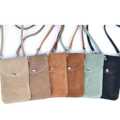 Suede Telefoontasje Simple kleine schoudertasjes voor mobiel trendy leren tasjes meerdere kleuren kopen