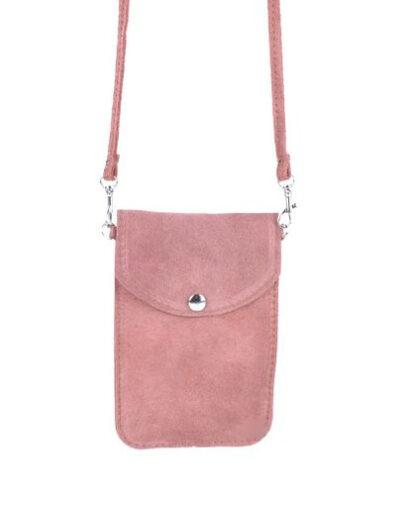 Suede Telefoontasje Simple roze kleine schoudertasjes voor mobiel trendy leren tassen kopen