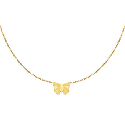 Ketting My Butterfly goud gouden dames ketting vlinder bedel rvs sieraden bestellen