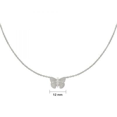 Ketting My Butterfly zilver zilveren dames ketting vlinder bedel rvs sieraden bestellen